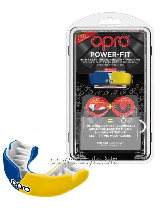 Купить Капа OPRO Power-Fit Hi-Tech Self-Fitting Blue/Yellow (art002293007)