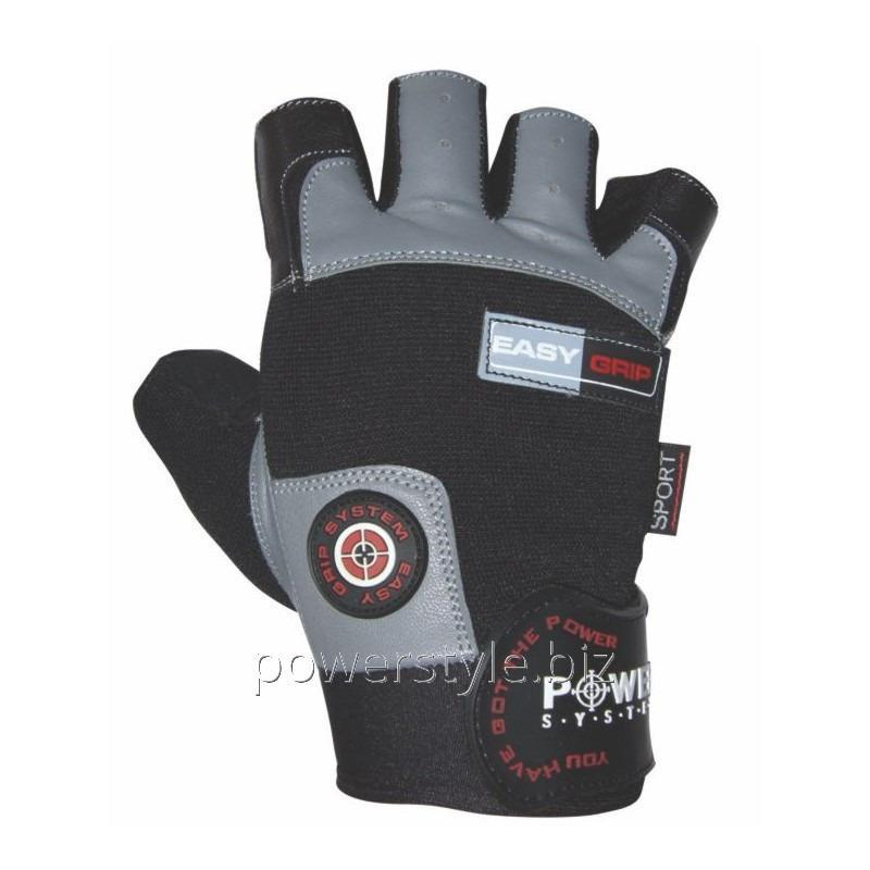 Перчатки для фитнеса и тяжелой атлетики Power System Easy Grip PS-2670 L Black/Grey