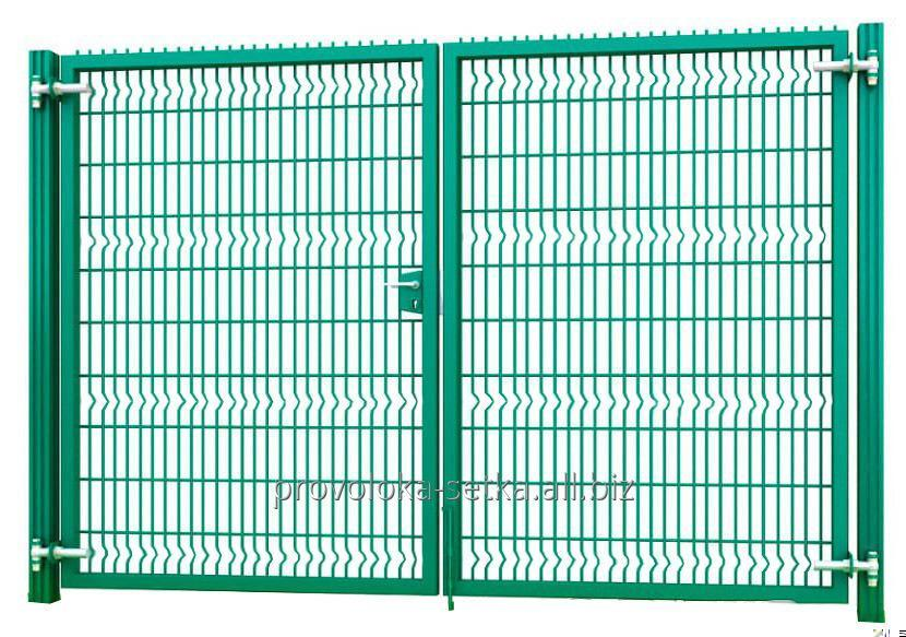 Buy Swing gates 2.03x3m, 3D with a lock-handle, zinc + polymer coating