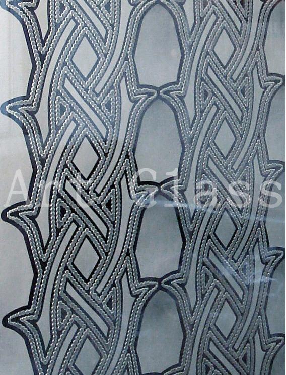 Стеклянная плитка матированная - изготовление на заказ по индивидуальным эскизам