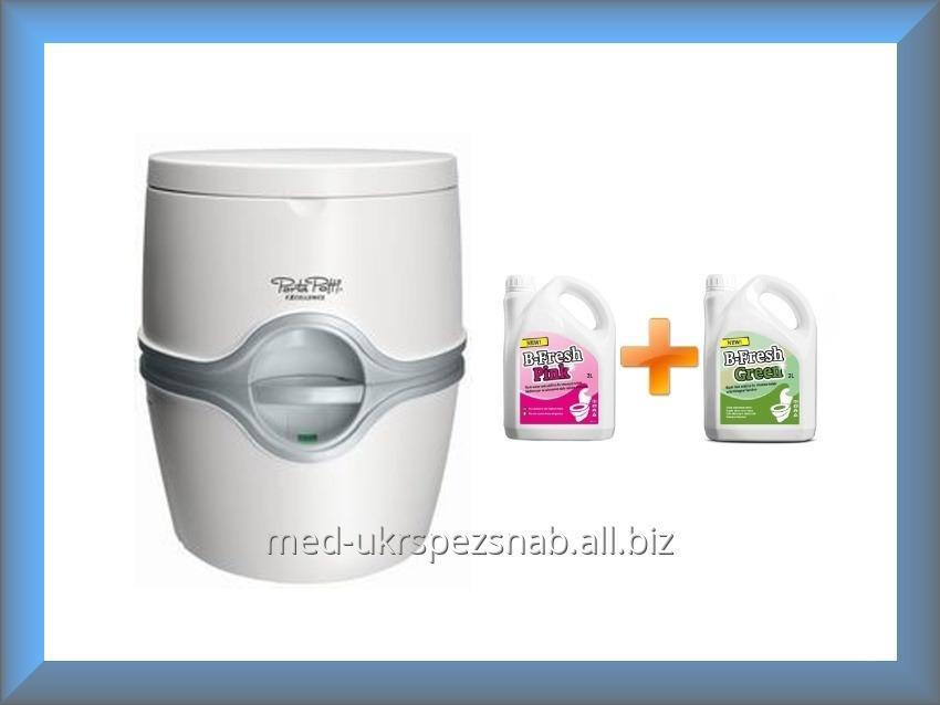 Биотуалет THETFORD Порта Потти 565 + комплект жидкостей для биотуалета Би Фреш Грин 2 л + Би Фреш Пинк 2 л