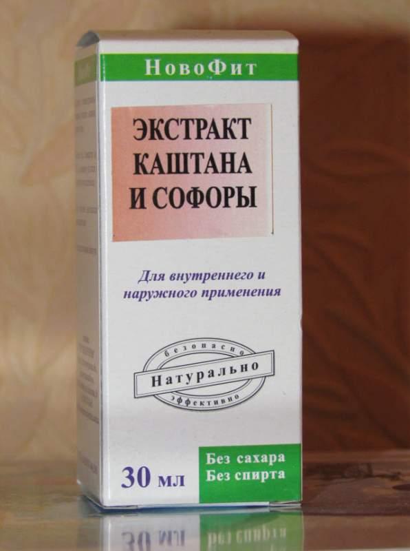 Экстракт каштана и софоры способствует быстрейшему выздоровлению больного