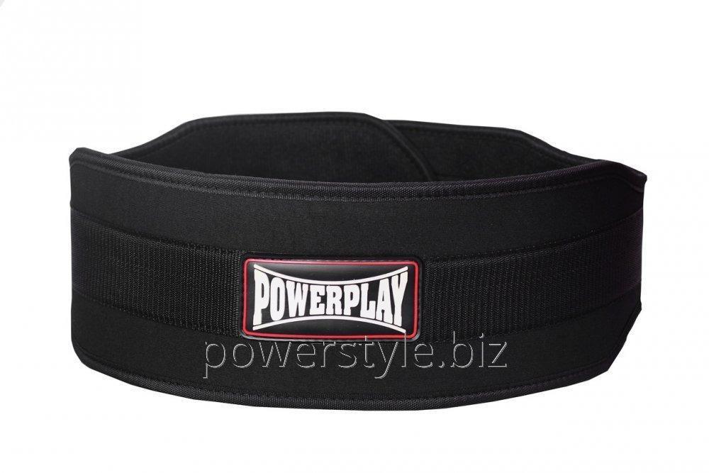 Пояс для тяжелой атлетики PowerPlay 5535 чорний (Неопрен) S