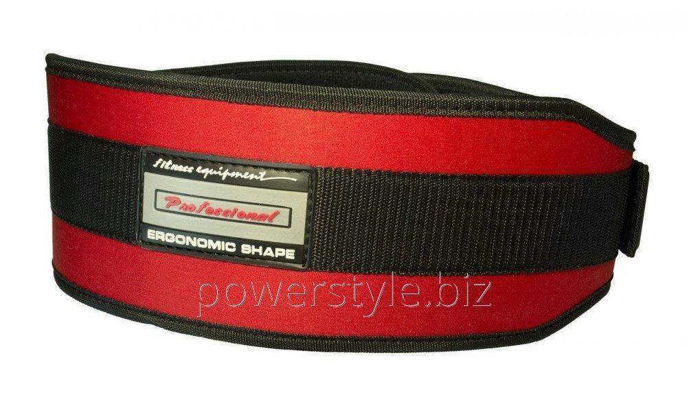 Пояс неопреновый для тяжелой атлетики PowerPlay 5535 красно-черный S