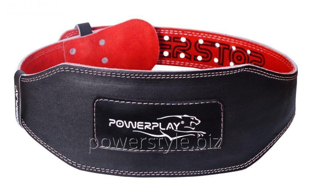 Пояс для тяжелой атлетики PowerPlay 5053 черно-красный L