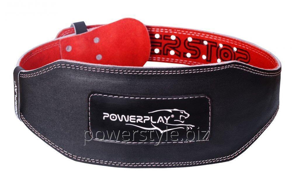 Пояс для тяжелой атлетики PowerPlay 5053 черно-красный M