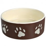 Buy Bowl ceramic with pads brown 0.3l/12sm