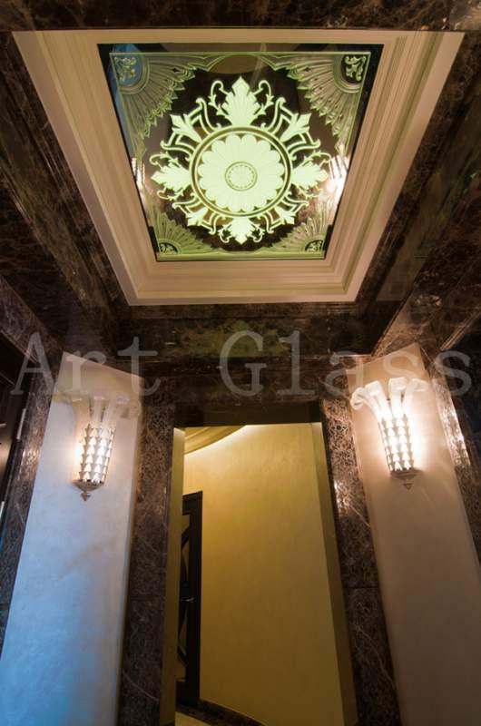 Декоративные потолки из стекла и зеркала - изысканный декор для роскошных интерьеров