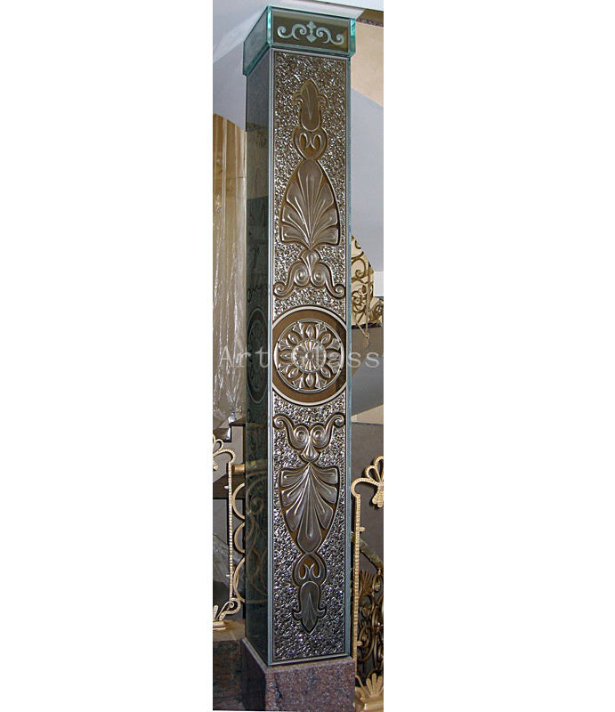 Колонны декоративные из натурального камня, стекла