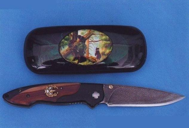 Купить Ножи авторские. Модель 105. Нож булатный складной, одноручный - 2.