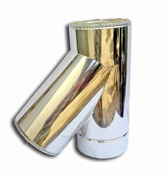 Купить Утепленный сендвич Тройник 45° Ø120/220 мм из нержавеющей стали