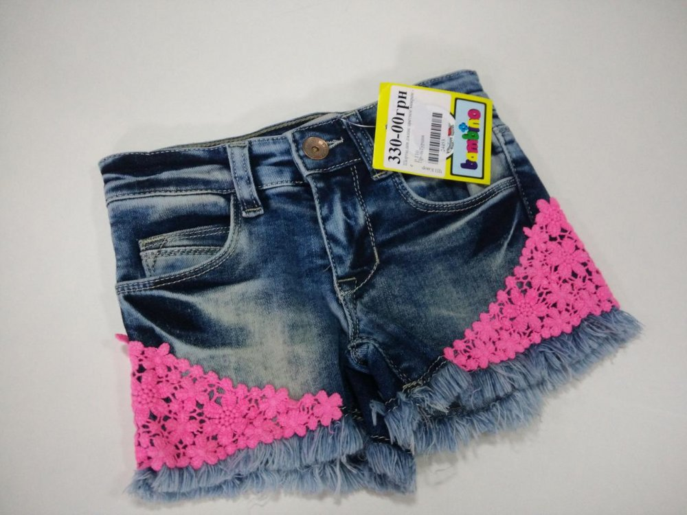 Купить Джинсовые шорты подростковые рванка с макраме