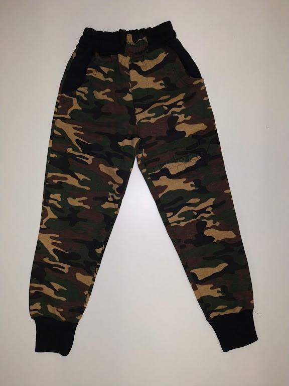 Купить Спортивные трикотажные штаны для мальчиков ,комуфляжные с карманами и манжетом ,х/б