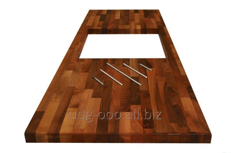 Столешница для кухни деревянная цена Стойки-ресепшен из искусственного камня Grandex Березка Дом отдыха