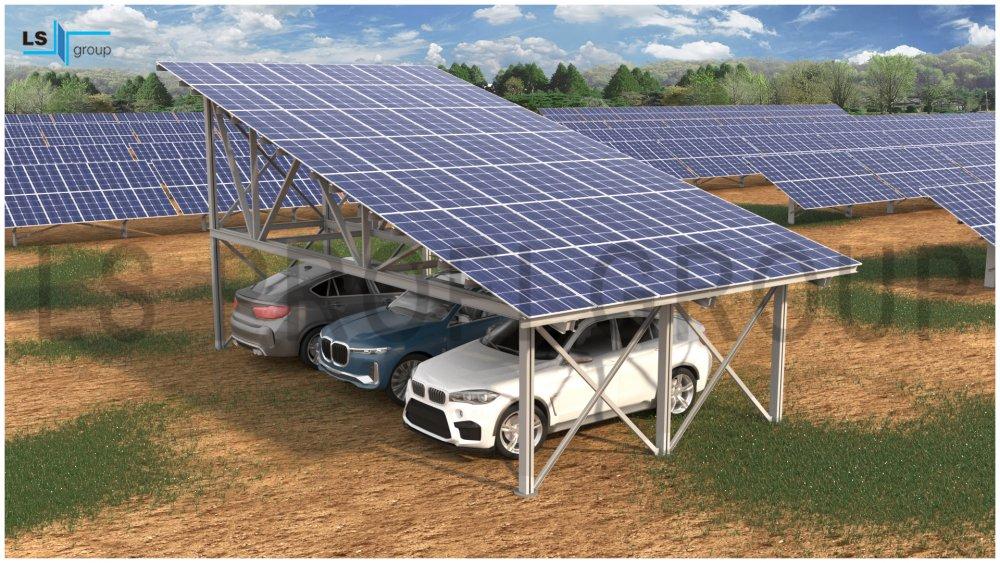 Buy Steel Solar Carport Structure