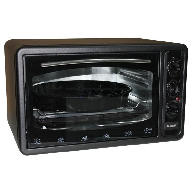 Купить Электрическая духовка ASEL AF - 0023 объёмом 33 литра Турция ( черная )