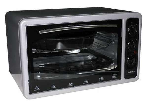 Купить Электрическая духовка ASEL AF - 0023 объёмом 33 литра Турция ( серая )