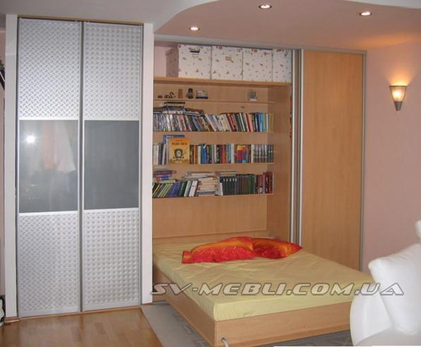 Кровать шкаф купе 131