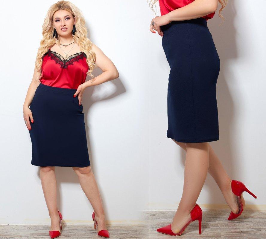 Купить Юбка большого размера Размеры: 50-52, 54-56, 58-60