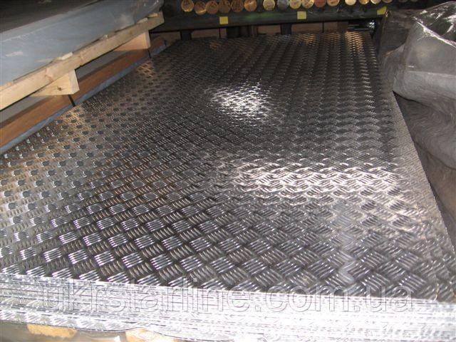 Алюминиевый лист рифлинный 1,5х1250х2500мм, АД0 (1050)