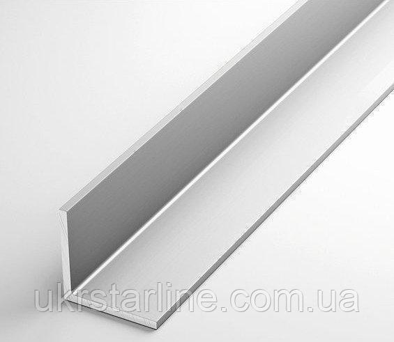 Алюминиевый уголок, 80х10х2,0 мм без покрытия