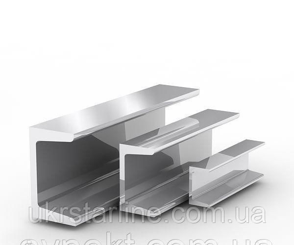 Алюминиевый швеллер отбортованный 30x16x2 мм АД31Т5