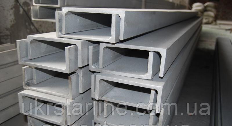 Алюминиевый швеллер отбортованный 37x10,3x1,5 мм