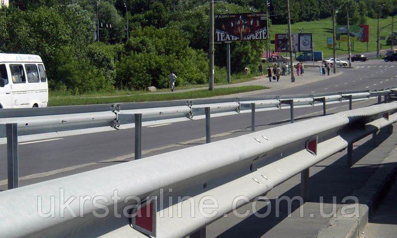 Барьерные дорожные ограждения оцинкованные 11ДО