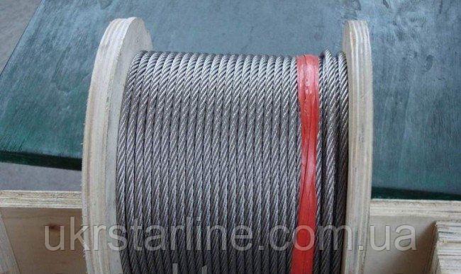 Канат нержавеющий ф 1мм 7х7 что соответствует ДИН 3052 нж канат. стропа канатная, ремни тканые.
