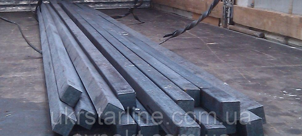 Квадрат стальной №50 ст.20, 35, 45, 40Х ГОСТ2591-884-6 стальной. Доставка по Украине.
