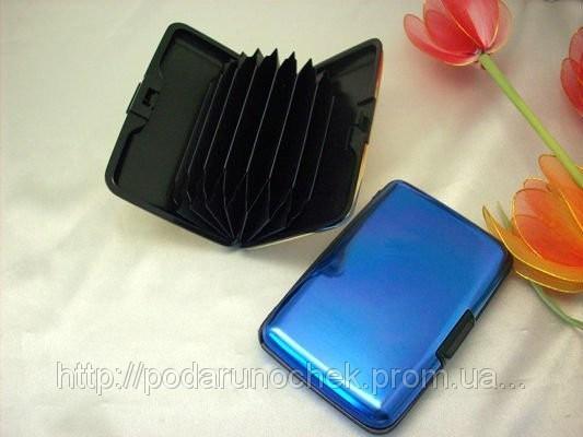 Аллюминиевый бумажник для денег и кредиток aluma wallet