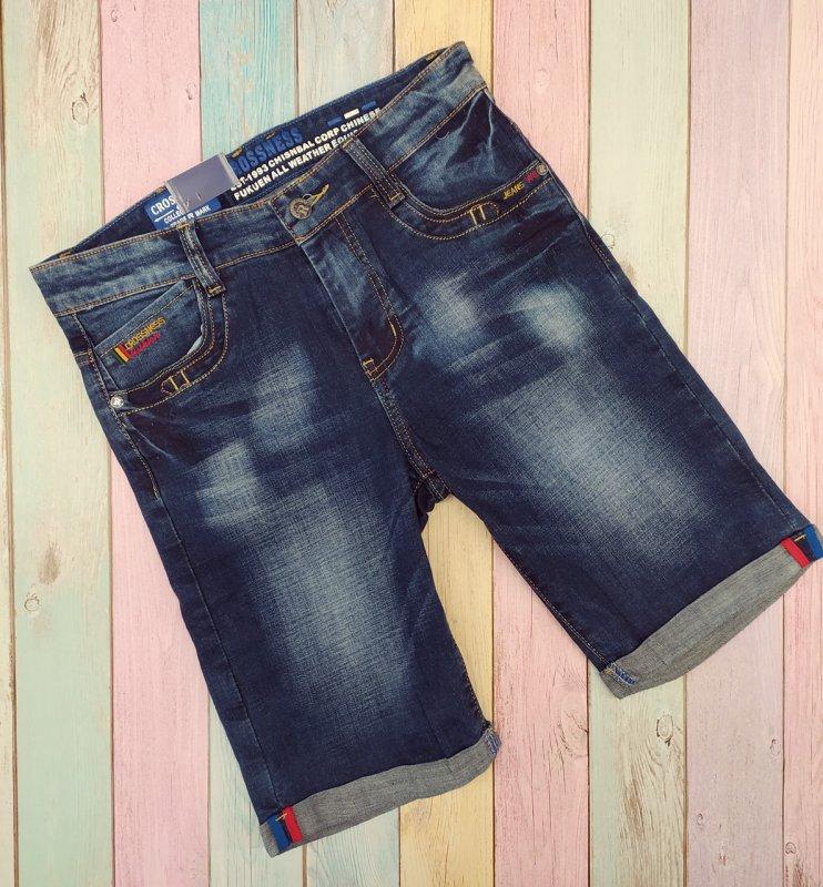 Купить Шорты джинсовые ,для мальчиков,подросковые т.синие р 158