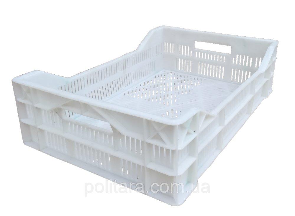 Купити Ящики перфорований для заморозки м'ясної продукції 600х400х110 / 150 білі