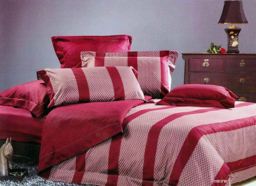 Купить Комплект полуторного постельного белья из египетского хлопка 6401