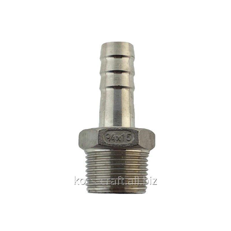 "Купить Штуцер шланговый AISI 304 ¾"" адаптер-елочка 15 мм."