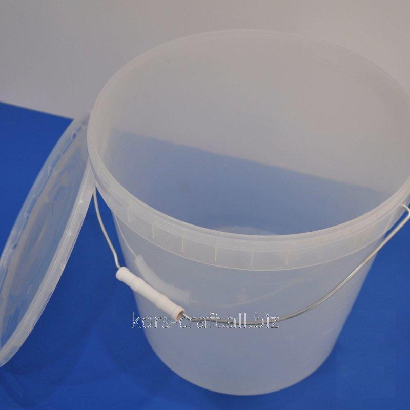 Купить Ведро пищевое прозрачное 20,5 литров