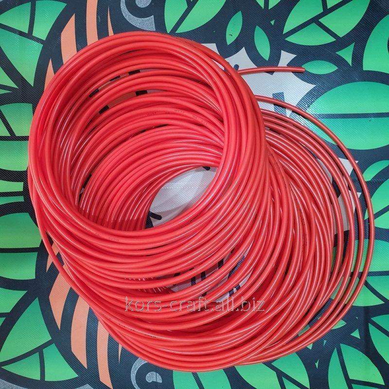 Купить Шланг пластиковый красный 6х4 мм.