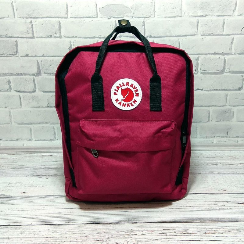 Рюкзак FJALLRAVEN KANKEN канкен + Органайзер ( 7 цветов ) Бордовый