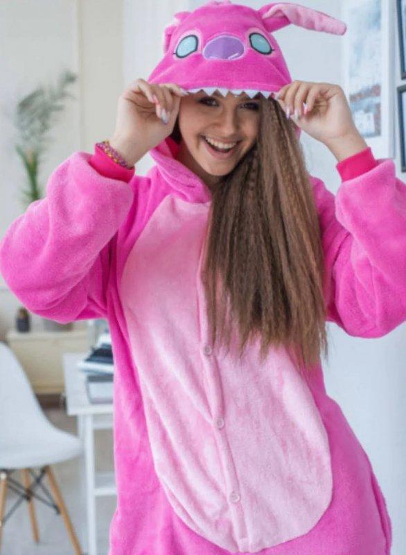Кигуруми Стич Розовый Пижама Взрослая и Детская