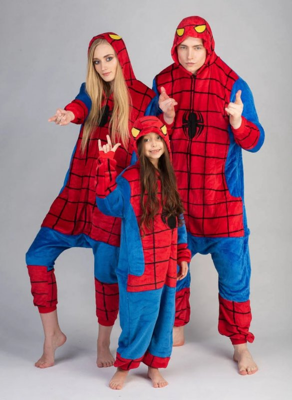 Пижама кигуруми Человек Паук (взрослые и детские размеры)