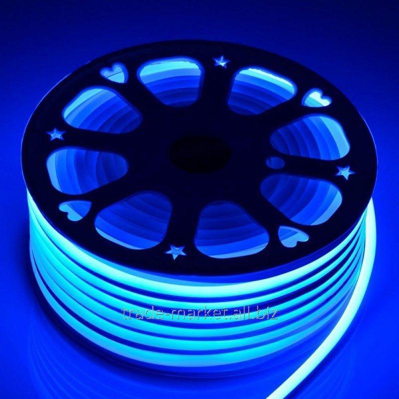 """Купить Бухта """"LED NEON FLEX"""" (Неон Флекс)100м синий цвет"""