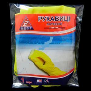 Купить Рукавички Z-BEST Standart-45099 латексні господ. р.L-9 пара (100я)