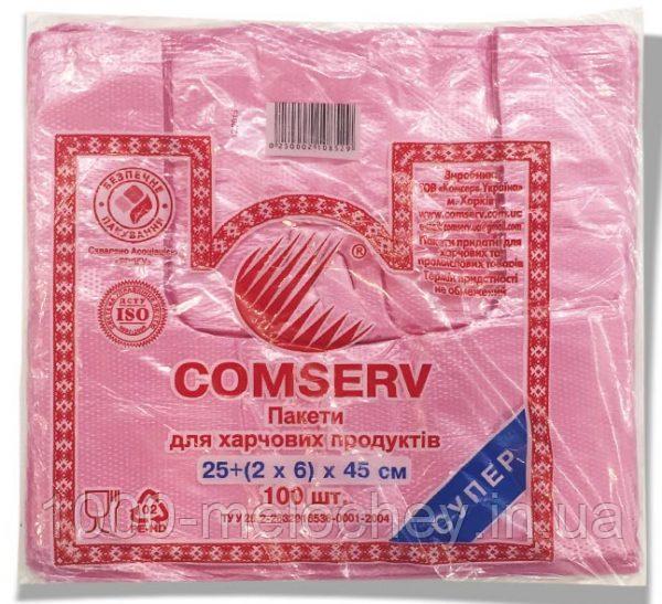 "Пакет-майка ""Comserv"" (25×45) 100 шт"