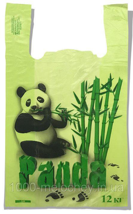 Пакет-майка «Панда» Золотое сечение салатовый (25х42) 100 шт