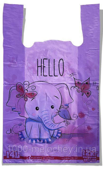 """Пакет-майка """"Слоник"""" Золотое Сечение фиолетовый (28×45) 250 шт"""