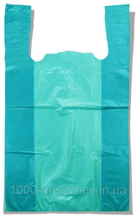 Пакет-майка без рисунка Золотое Сечение бирюзовый (28×45) 250 шт