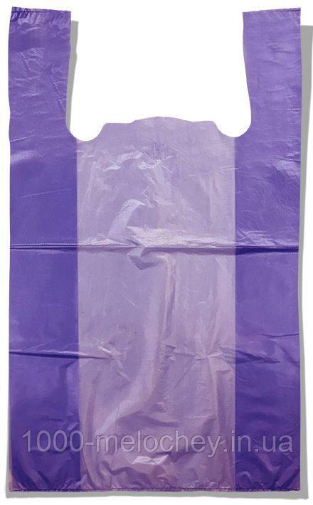 Пакет-майка без рисунка Золотое Сечение сиреневый (28×45) 250 шт