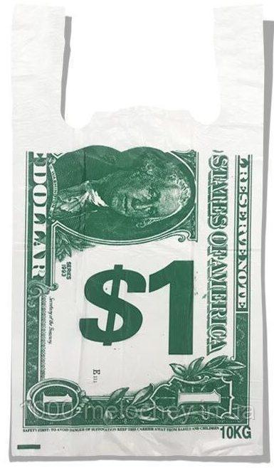 """Пакет-майка """"$1"""" Золотое сечение (30×54) 100 шт"""