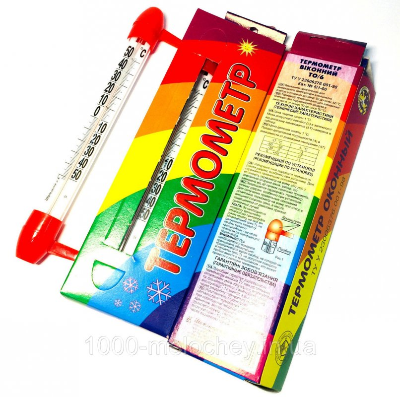 Термометр оконный Шатлыгин ТО6 в коробке маленький