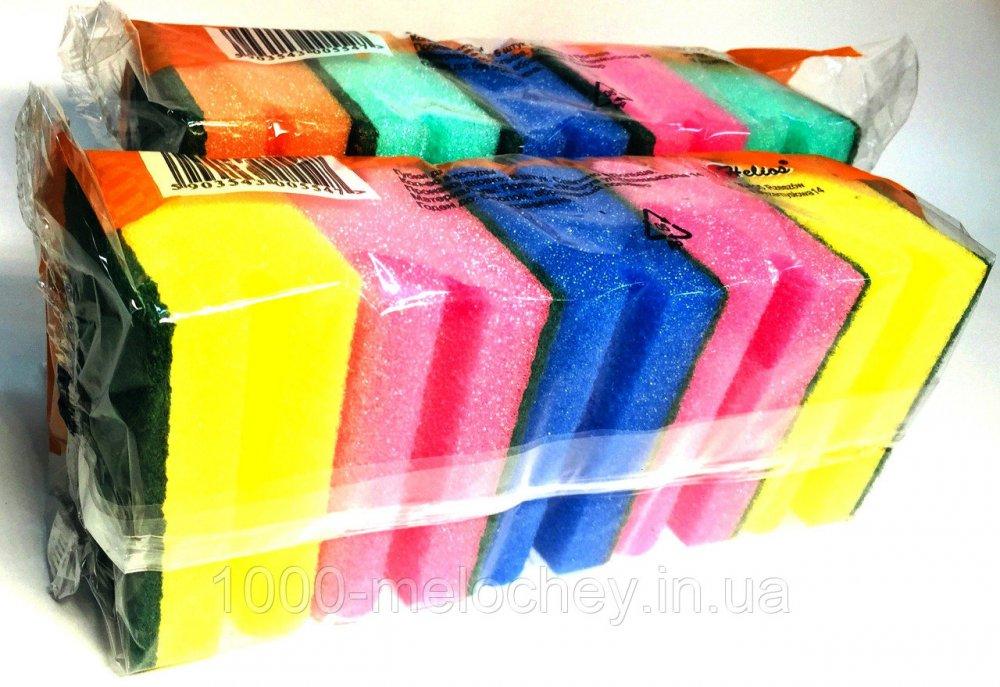 Губки для посуды Тефлон 5шт./уп., Польша, (95*70*40mm)